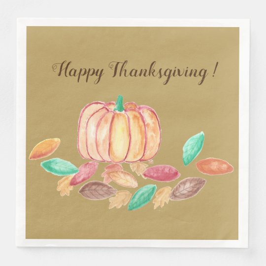 Thanksgiving paper napkins