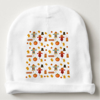 Thanksgiving pattern baby beanie