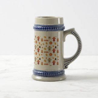 Thanksgiving pattern beer stein