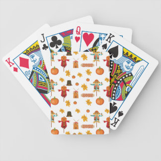 Thanksgiving pattern bicycle playing cards