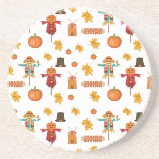 Thanksgiving pattern coaster