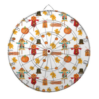 Thanksgiving pattern dartboard
