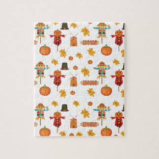 Thanksgiving pattern jigsaw puzzle