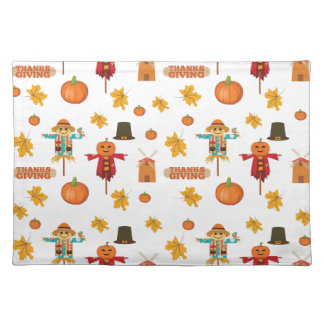 Thanksgiving pattern placemat