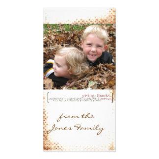 thanksgiving Photcard Photo Card Template