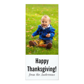 Thanksgiving Photo Greeting 10 Cm X 24 Cm Invitation Card