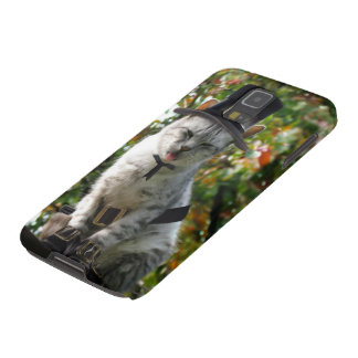 Thanksgiving Pilgrim Cat Galaxy S5 Cases