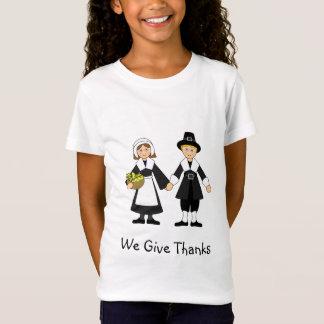 Thanksgiving Pilgrim Girl and Boy T-Shirt