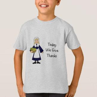 Thanksgiving Pilgrim Girl T-Shirt