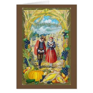 Thanksgiving Pilgrims & Harvest, Card