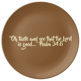 "Thanksgiving Plate Ceramic - ""Oh Taste and See"""