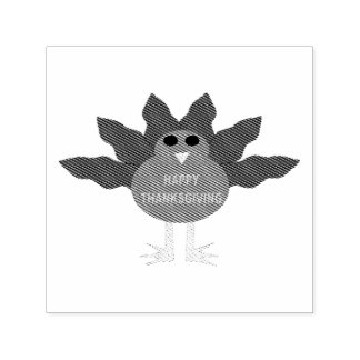 Thanksgiving Plucked Turkey Self Inking Stamp