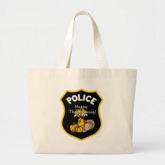 Thanksgiving Police Jumbo Tote Bag