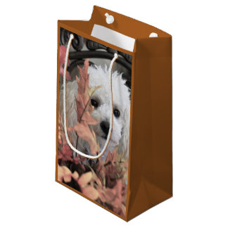 Thanksgiving poodle dog gift bag