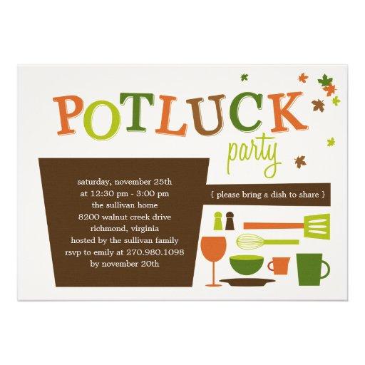 potluck flyer template