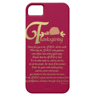 Thanksgiving - Psalm 100 iPhone 5 Cover