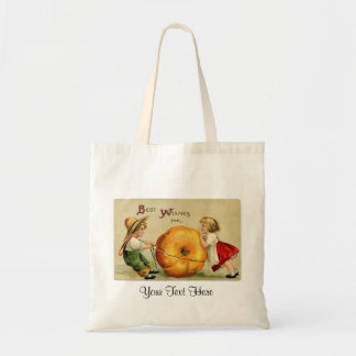 Thanksgiving Pumpkin and Children Tote Bag Canvas Bag