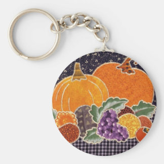 Thanksgiving Pumpkin and Friends Patchwork Key Chain