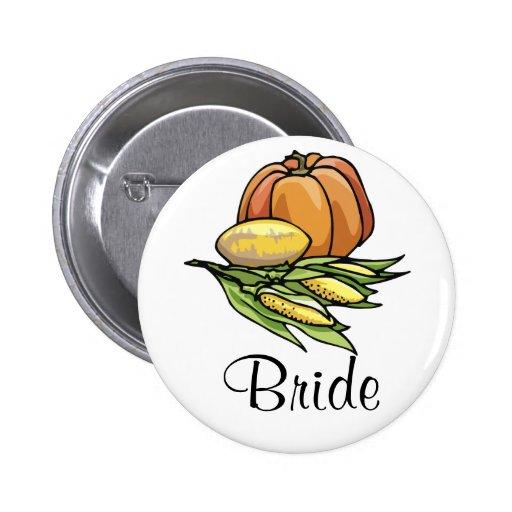 Thanksgiving Pumpkin Pinback Buttons