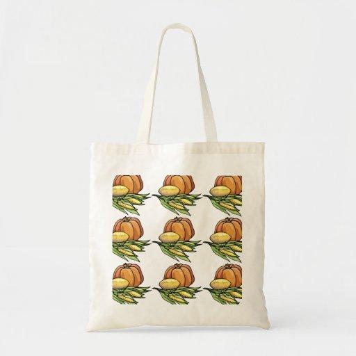 Thanksgiving Pumpkin Canvas Bag