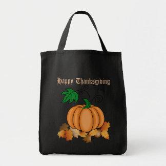 Thanksgiving Pumpkin Tote Bags