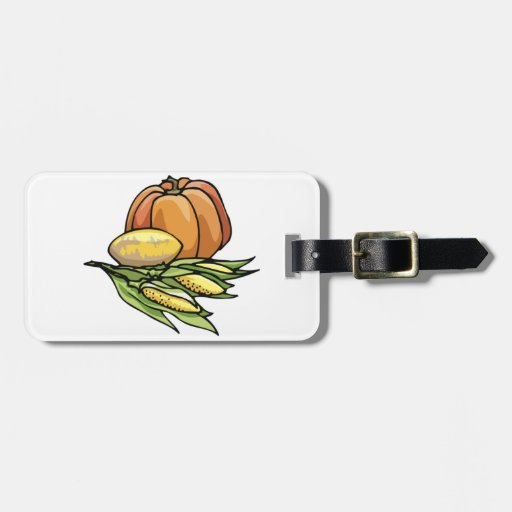 Thanksgiving Pumpkin Luggage Tag