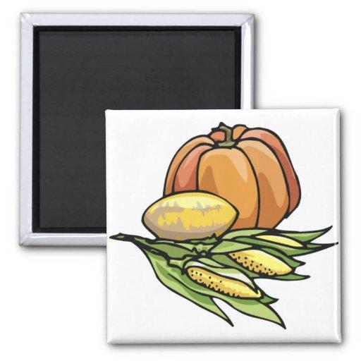 Thanksgiving Pumpkin Fridge Magnets