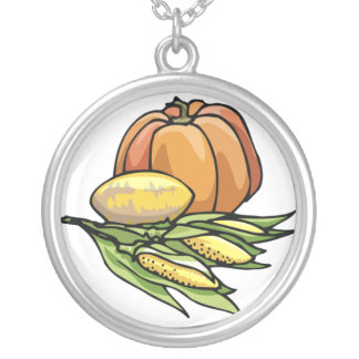 Thanksgiving Pumpkin Personalized Necklace