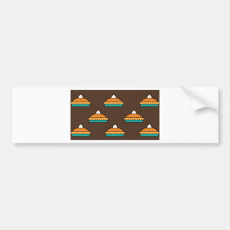 Thanksgiving Pumpkin Pie Pie Dessert Pumpkin Bumper Sticker