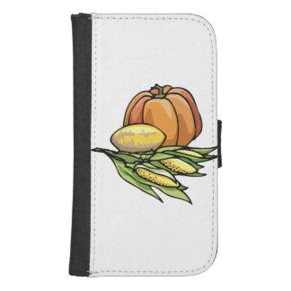 Thanksgiving Pumpkin Galaxy S4 Wallet Cases