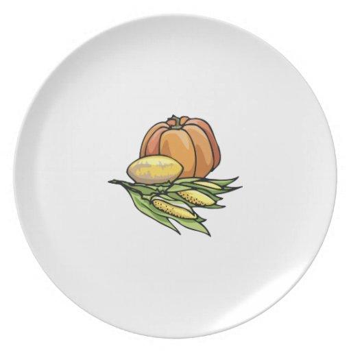 Thanksgiving Pumpkin Dinner Plate