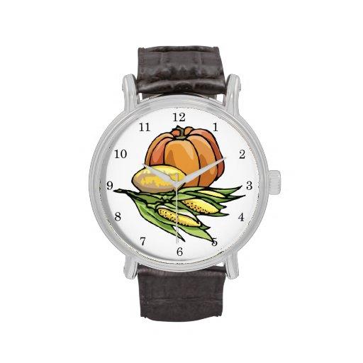 Thanksgiving Pumpkin Wristwatch