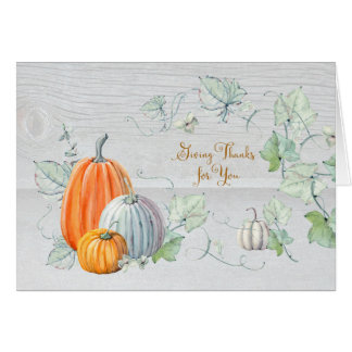 Thanksgiving Pumpkins Give Thanks for You Card