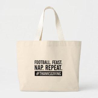 Thanksgiving Repeat Large Tote Bag