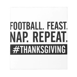Thanksgiving Repeat Notepad