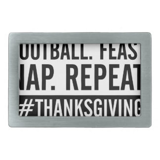 Thanksgiving Repeat Rectangular Belt Buckles