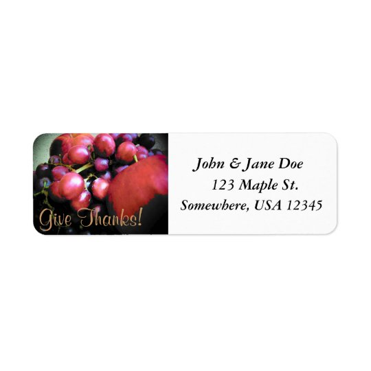 Thanksgiving Return Label Return Address Label