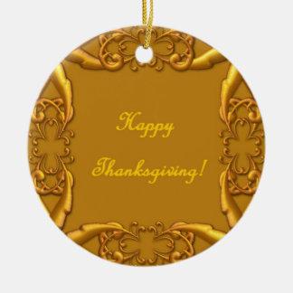 Thanksgiving Round Ceramic Decoration