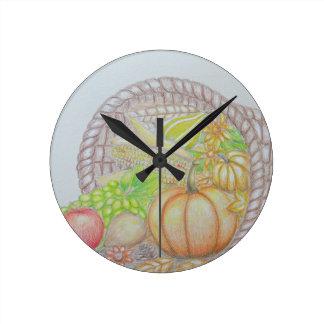 Thanksgiving Round Clock