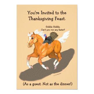 Thanksgiving Runaway Turkey & Horse Invitation