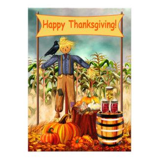 Thanksgiving Scarecrow 13 Cm X 18 Cm Invitation Card