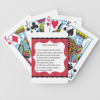 Thanksgiving Scripture Bicycle Playing Cards