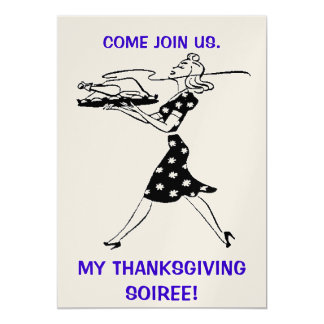 Thanksgiving Soiree Party Invitation