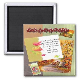 thanksgiving square magnet