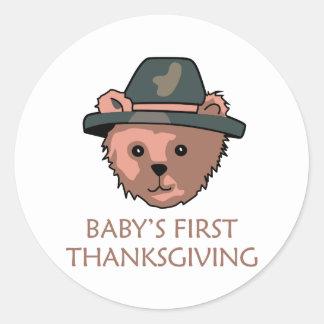Thanksgiving Round Sticker