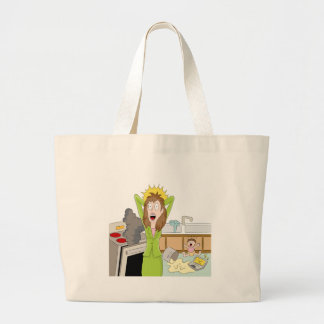 Thanksgiving Stressed Mom Jumbo Tote Bag
