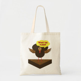 Thanksgiving talking cartoon turkey - funny bags