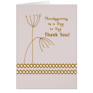 Thanksgiving Thank You Card for Mom and Dad