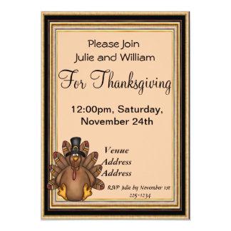 Thanksgiving Tom Turkey Holiday 13 Cm X 18 Cm Invitation Card