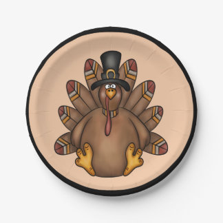 Thanksgiving Tom Turkey Holiday Paper Plate